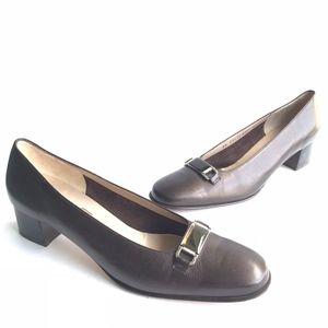 Salvatore Ferragamo Boutique Slip-On Chunky Heels